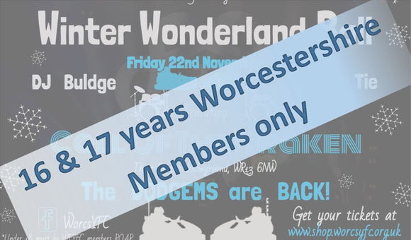 Winter Wonderland Ball 2019 - Worcestershire Member aged 16 & 17 years only