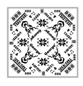 Snow Ball Steer Bandana - White