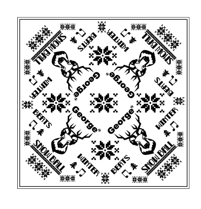 Snow Ball 2018 Bandana - White