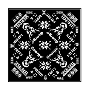 Snow Ball Steer Bandana - Black