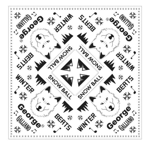 Snow Ball 2017 - Bandana in White or Black