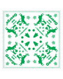 Snow Ball DJ Deer Bandana in White