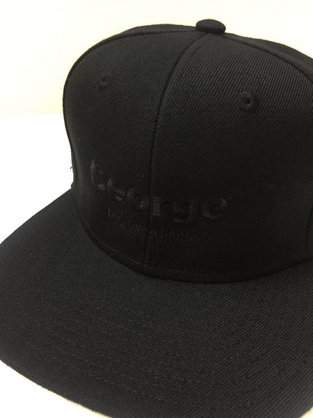 George FM Beats Working, Snapback Cap - Black on Black