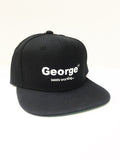 George Beats FM Working - Snapback Cap - White on Black