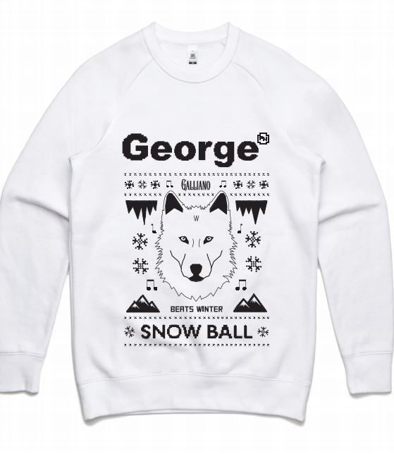 Snow Ball White Fox Jumper - Unisex