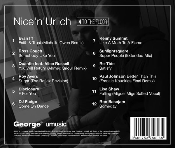 Nice 'n' Urlich: 4 to the Floor - Album - Special deal