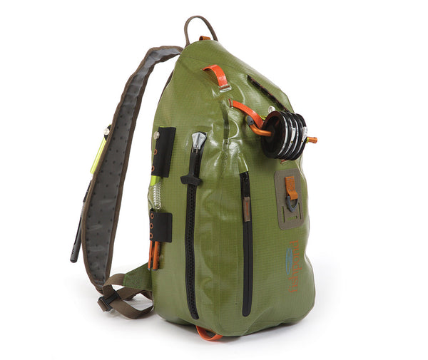 Fishpond thunderhead waterproof sling pack fishpond dry for Fly fishing sling pack