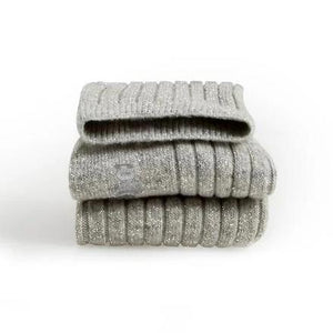 Glittery Wool & Cashmere Ankle Socks // Gris Clair