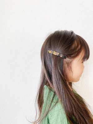 French Clasp Barrette // Tortoise