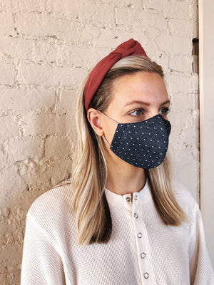 Face Mask // Chambray Dot