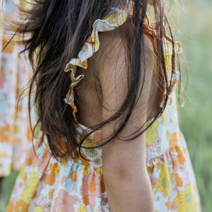 Wren and James x Wunderkin Co // 70s Floral Pinafore