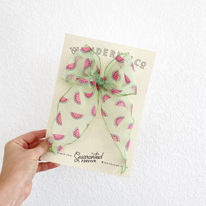 Midi Fable // Flocked Sheer Watermelons