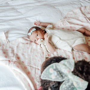 Swaddle // Blush Dot