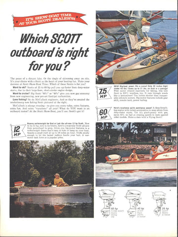 Scott Outboard Boat Motors LIFE March 21 1960