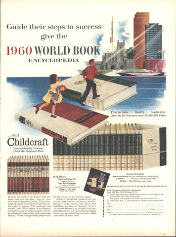 World Book Encyclopedia Page LIFE March 21 1960