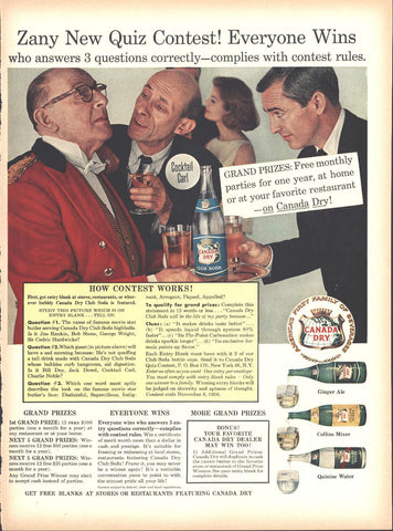 Canada Dry Contest Page LIFE October 13 1958