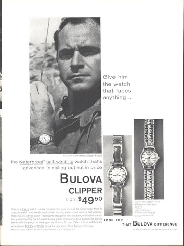 Bulova Clipper Watch LIFE October 13 1958