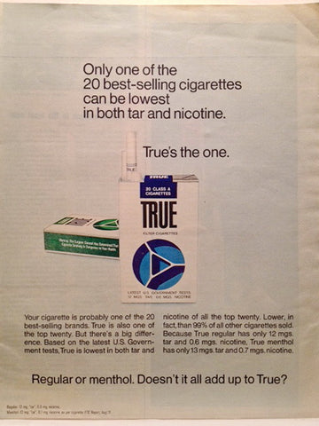 True Cigarettes Page LIFE December 3 1971