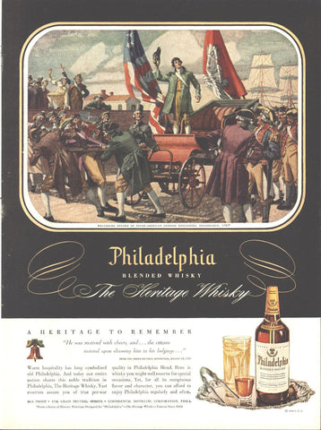 Philadelphia Blended Whiskey Page LIFE March 22 1948