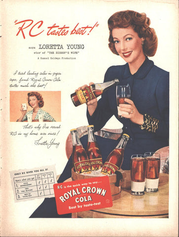 Royal Crown Cola Loretta Young Page LIFE March 22 1948