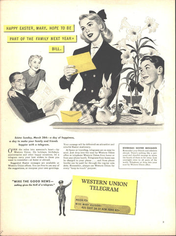 Western Union Telegram Page LIFE March 22 1948