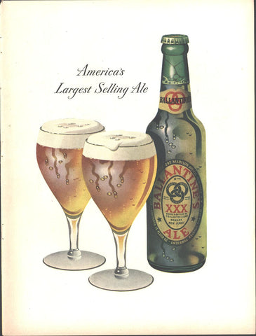 Ballantines XXX Ale Page LIFE March 22 1948
