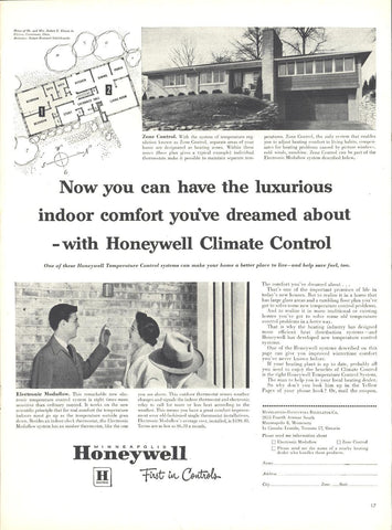 Honeywell Climate Control Page LIFE October 12 1953