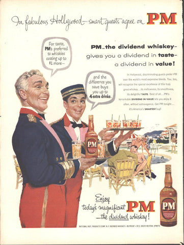 PM Blended Whiskey Page LIFE October 12 1953