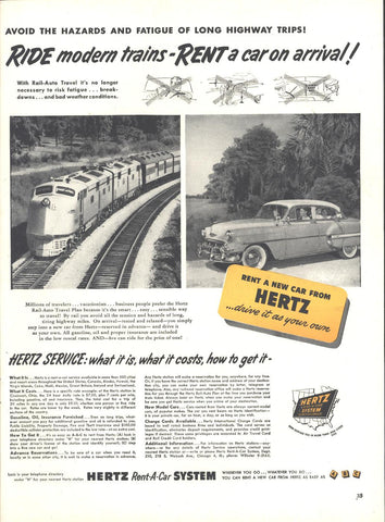 Hertz Rent A Car Page LIFE October 12 1953