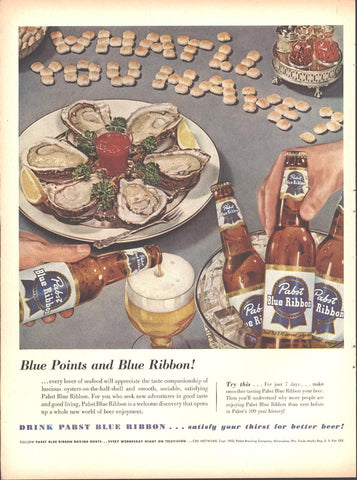 Pabst Blue Ribbon Beer Page LIFE October 12 1953