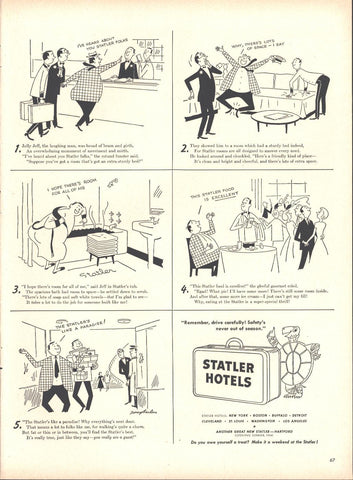 Statler Hotels Page LIFE October 12 1953