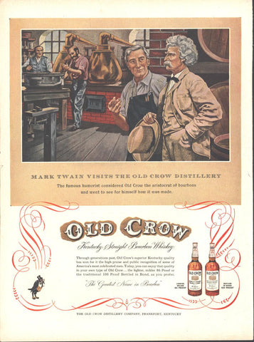 Old Crow Bourbon (Double Page) LIFE October 12 1953