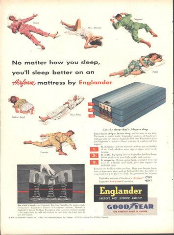Englander Airfoam Mattress Page LIFE October 12 1953