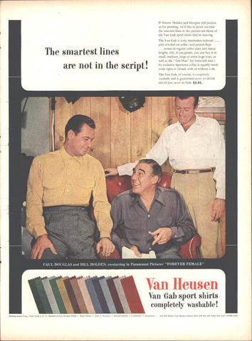 Van Heusen Shirts Bill Holden Paul Douglas Page LIFE October 12 1953