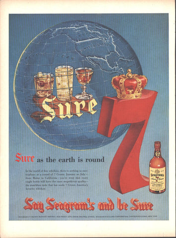 Seagram's 7 Crown Whiskey Page LIFE October 12 1953
