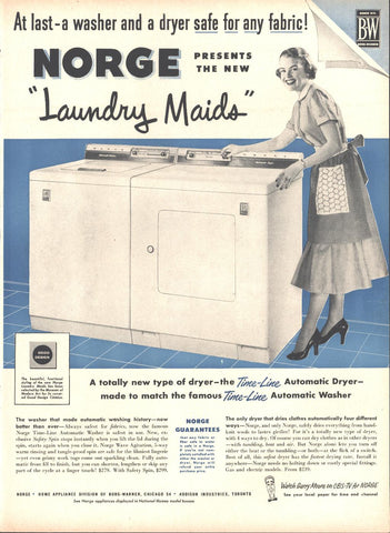 Norge Clothes Washer Dryer Page LIFE October 12 1953