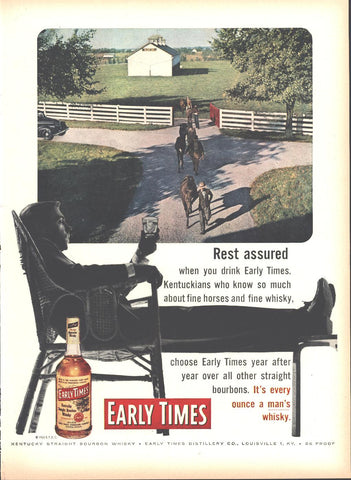 Early Times Whiskey Page LIFE May 16 1955