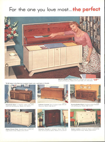 Lane Cedar Chests (Double Page) May 16 1955