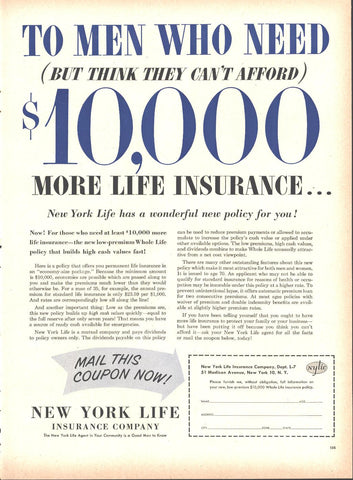 New York Life Insurance Page LIFE May 16 1955