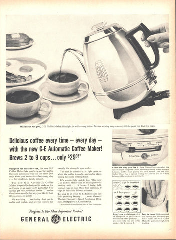 General Electric GE Coffee Pot Page LIFE May 16 1955