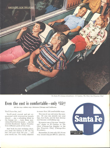 Santa Fe Railroad Page LIFE May 16 1955