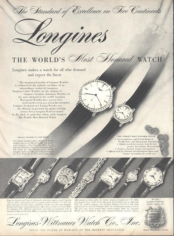 Longines Watches Page LIFE May 16 1955