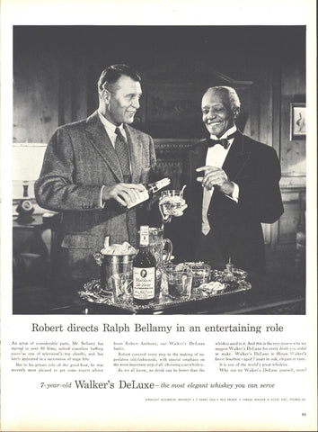 Walkers Whiskey Ralph Bellamy Page LIFE May 16 1955