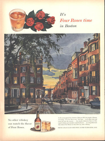 Red Roses Whiskey Page LIFE May 16 1955