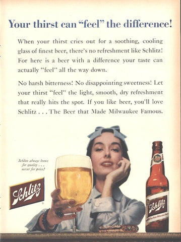 Schlitz Beer Page LIFE May 16 1955