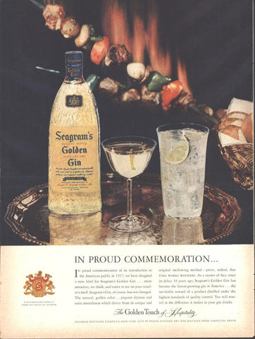 Seagrams Golden Gin Page LIFE May 16 1955
