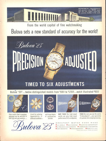Bulova 23 Watches Page LIFE May 16 1955
