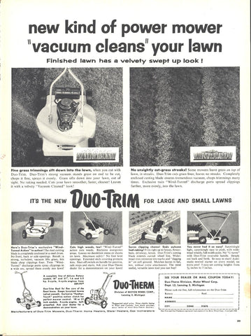 Duo Therm Lawnmowers Page LIFE May 16 1955