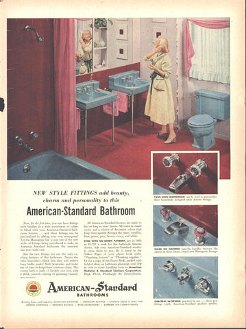 American Standard Bathrooms Page LIFE May 16 1955
