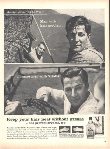 Vitalis Hair Cream Walter Prager Page LIFE October 20 1958